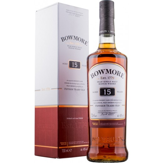 Bowmore 15 år Whisky Sherry Cask Finish 43%-32