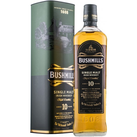 Bushmills 10 år Single Malt Irish Whiskey 40%-31