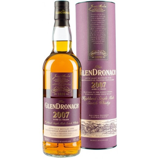 Glendronach Julemalten 2018, 11 år Highland Single Malt Whisky 2007 46%-31