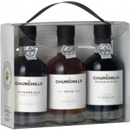 Churchills Port Experience, 3 x 20cl, Reserve Port, Dry White Port, 10 Years old Tawny Port-20