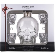 Crystal Head Vodka + 4 shot glas 70cl 40%-20