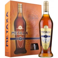 Metaxa 7 stars The Original Greek Spirit 40% + 2 Glas-20